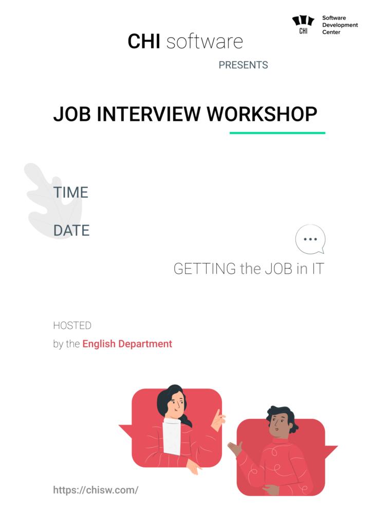 Вебінар на тему «Getting the job in IT» для студентів ХНУРЕ!