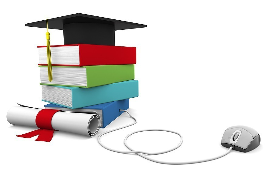 Distance learning through interactive learning materials.